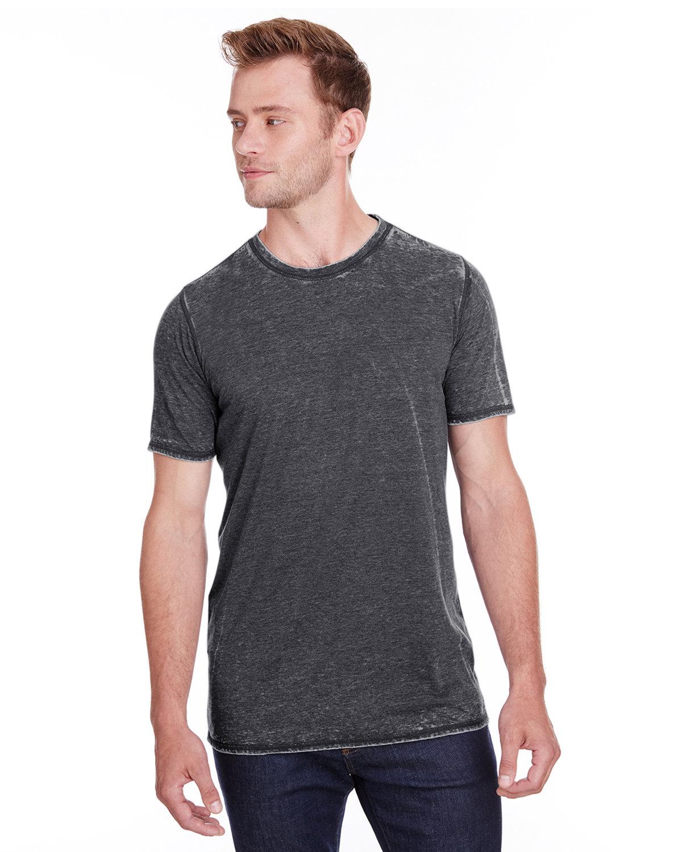 J America Adult Vintage Zen Jersey T-Shirt TWISTED BLACK