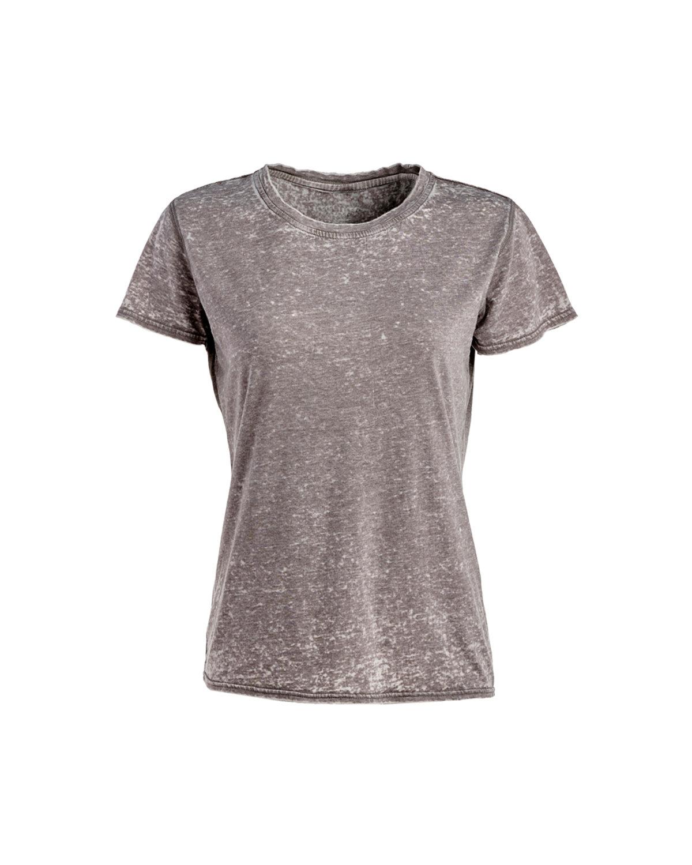 J America Ladies' Zen Jersey T-Shirt CEMENT