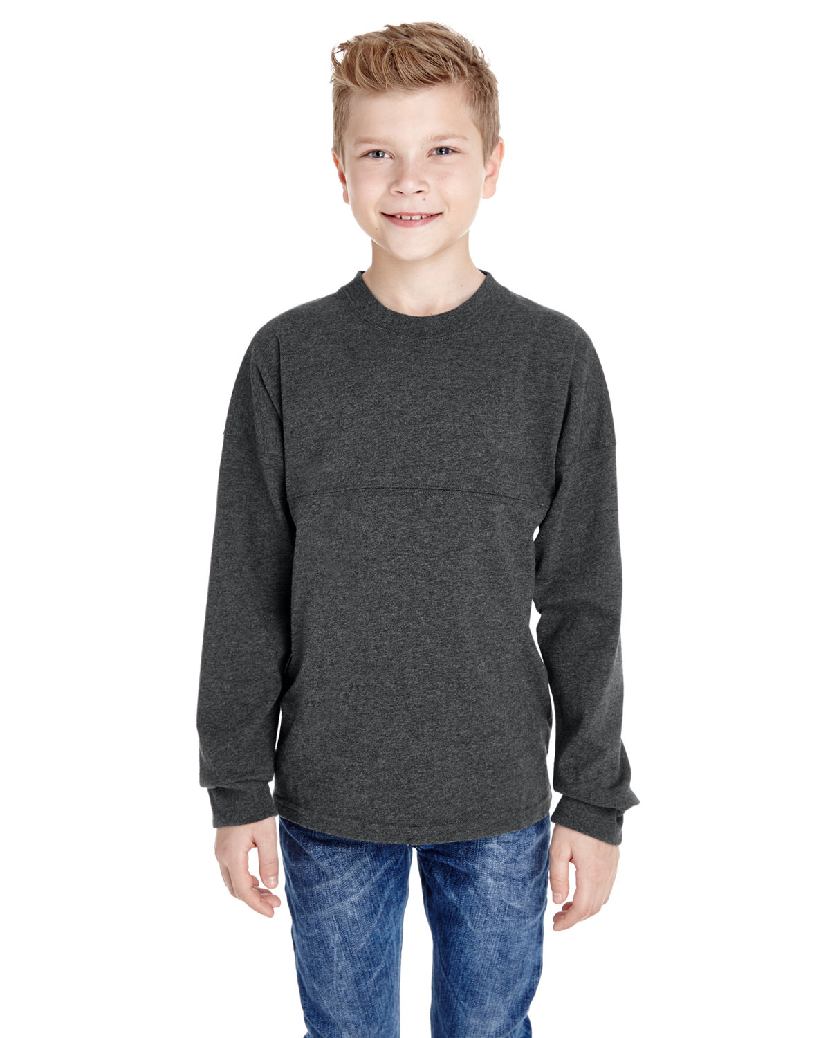J America Youth Game Day Jersey CHARCOAL HEATHER