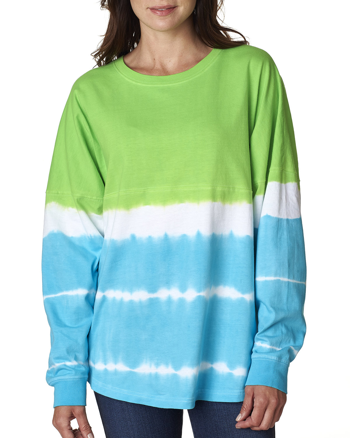 J America Adult Game Day Jersey LIME/ MAUI BLUE