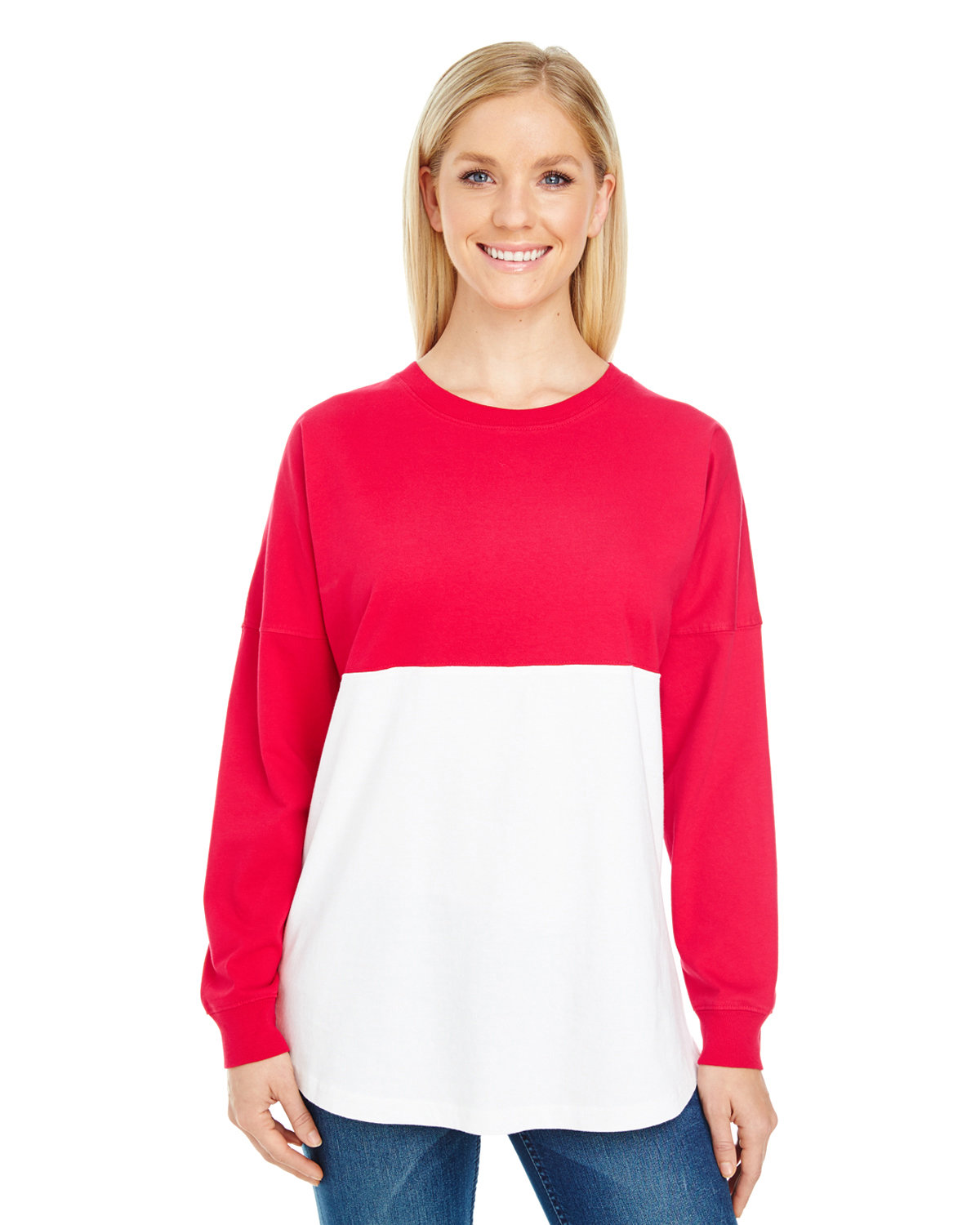 J America Adult Game Day Jersey RED/ WHT BLOCK