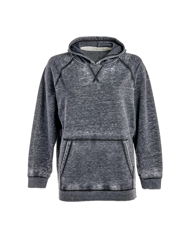 J America Youth Zen Pullover Hooded Sweatshirt DARK SMOKE