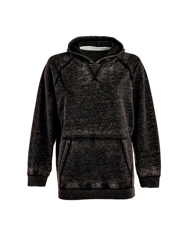 J America Youth Zen Pullover Hooded Sweatshirt TWISTED BLACK