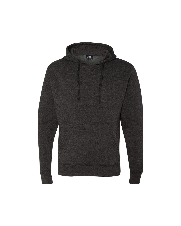 J America Adult Cloud Pullover Fleece Hooded Sweatshirt CHARCOAL HEATHER