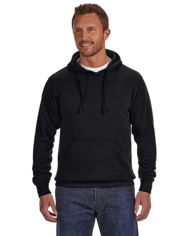 J America Adult Cloud Pullover Fleece Hooded Sweatshirt BLACK