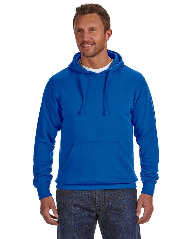 J America Adult Cloud Pullover Fleece Hooded Sweatshirt ROYAL