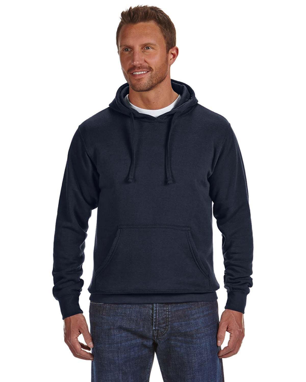 J America Adult Cloud Pullover Fleece Hooded Sweatshirt NAVY