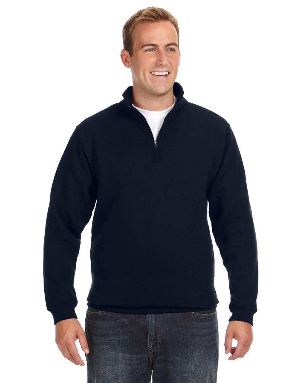 J America Adult Heavyweight Fleece Quarter-Zip NAVY