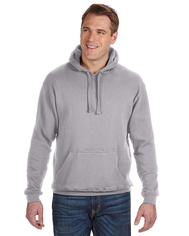 J America Adult Tailgate Fleece Pullover Hooded Sweatshirt OXFORD