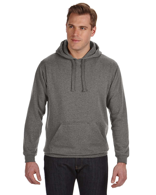 J America Adult Tailgate Fleece Pullover Hooded Sweatshirt CHARCOAL HEATHER