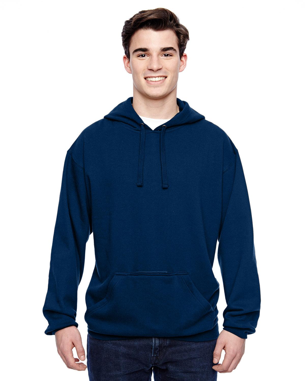 J America Adult Tailgate Fleece Pullover Hooded Sweatshirt NAVY
