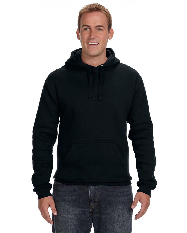 J America Adult Premium Fleece Pullover Hooded Sweatshirt BLACK