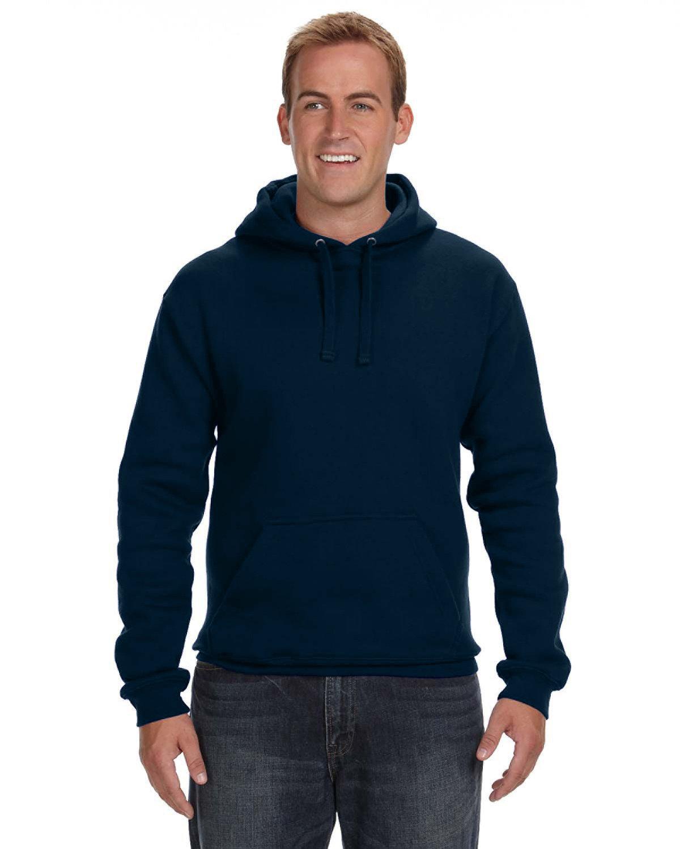 J America Adult Premium Fleece Pullover Hooded Sweatshirt NAVY