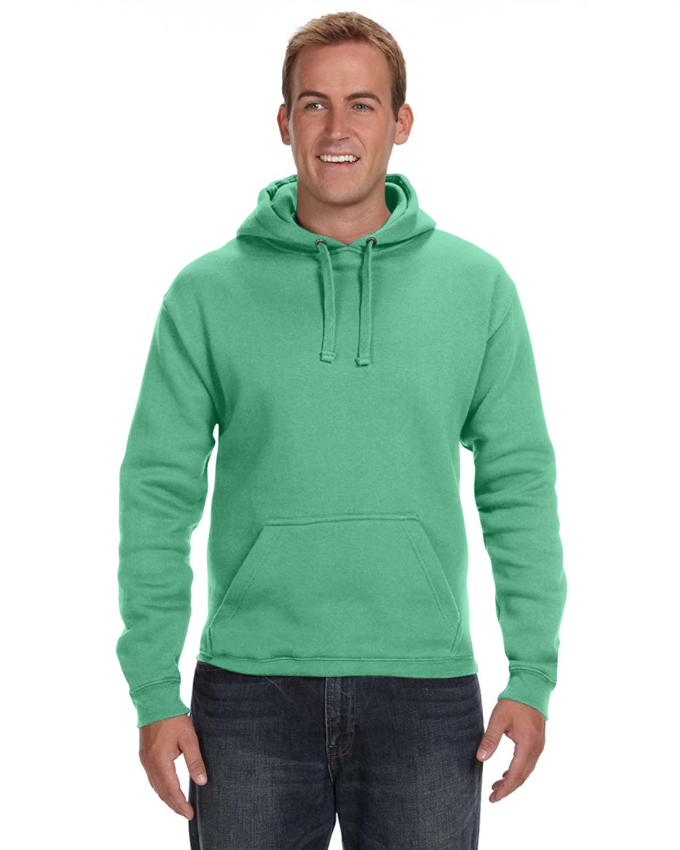 J America Adult Premium Fleece Pullover Hooded Sweatshirt KELLY GREEN