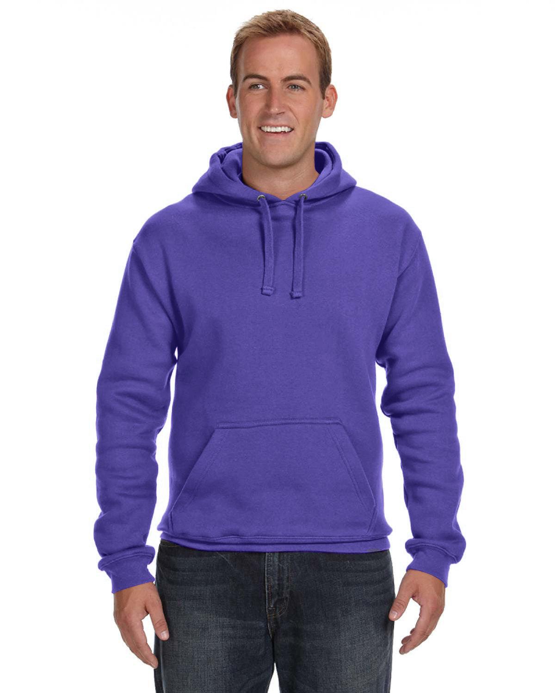 J America Adult Premium Fleece Pullover Hooded Sweatshirt PURPLE