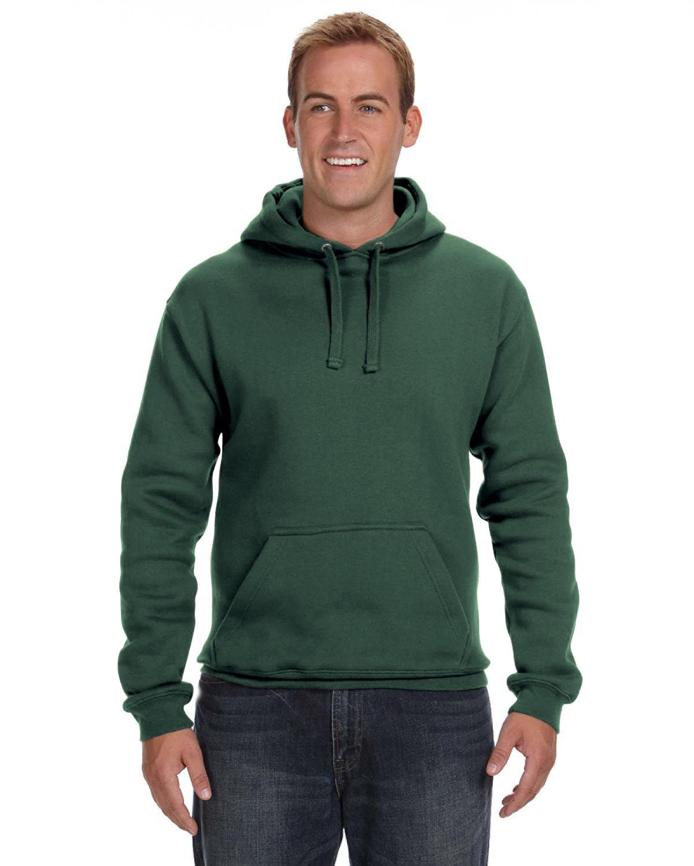 J America Adult Premium Fleece Pullover Hooded Sweatshirt FOREST GREEN