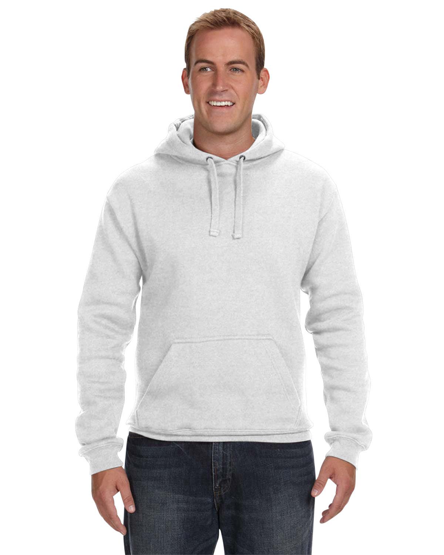 J America Adult Premium Fleece Pullover Hooded Sweatshirt ASH HEATHER