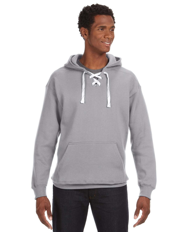 J America Adult Sport Lace Hooded Sweatshirt OXFORD