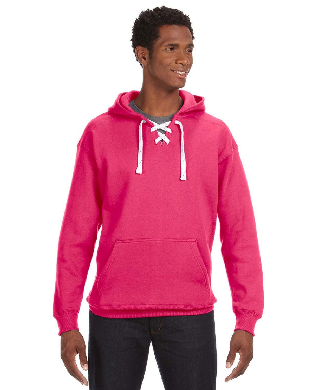 J America Adult Sport Lace Hooded Sweatshirt WILDBERRY