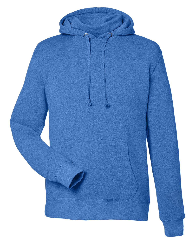 J America Unisex Gaiter Pullover Hooded Sweatshirt COOL ROYAL HTHR