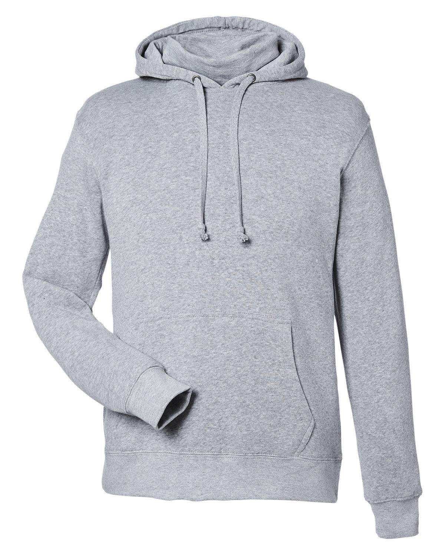 J America Unisex Gaiter Pullover Hooded Sweatshirt GREY HEATHER