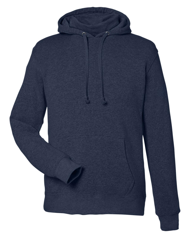 J America Unisex Gaiter Pullover Hooded Sweatshirt TRUE NAVY HEATHR