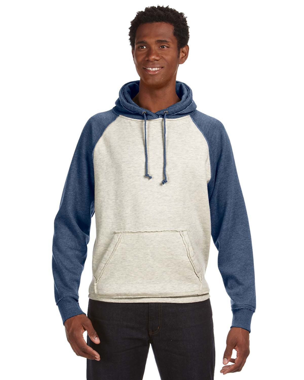 J America Adult Vintage Heather Pullover Hooded Sweatshirt OATML HT/ VNT NV