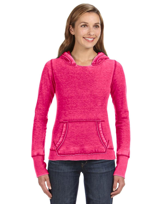 J America Ladies' Zen Pullover Fleece Hooded Sweatshirt WILDBERRY