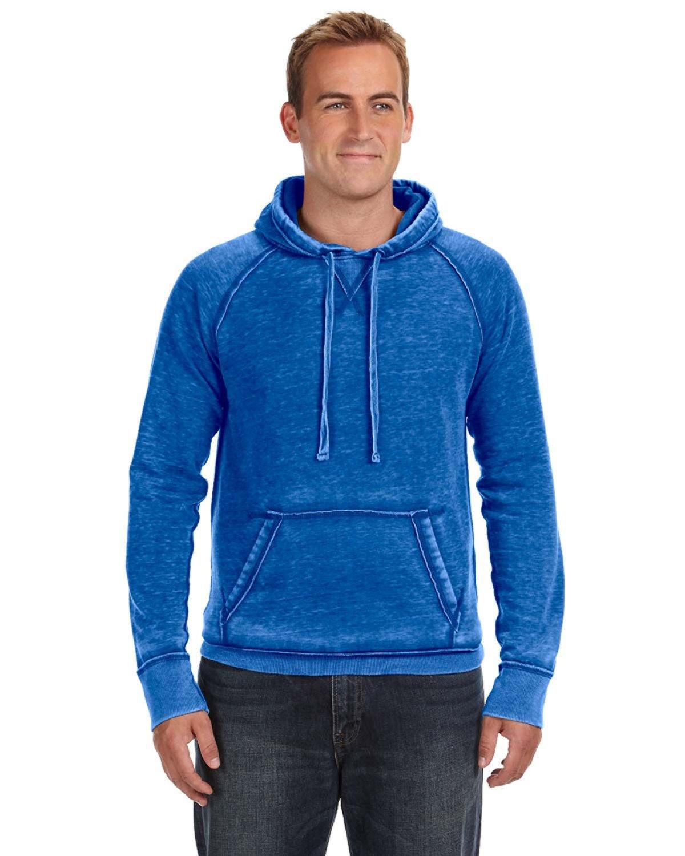 J America Adult Vintage Zen Fleece Pullover Hooded Sweatshirt ROYAL