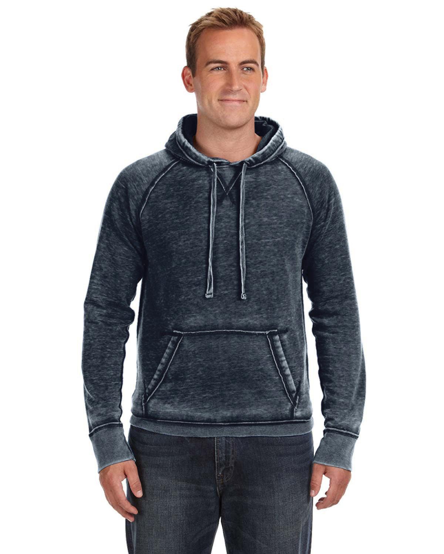 J America Adult Vintage Zen Fleece Pullover Hooded Sweatshirt VINTAGE NAVY