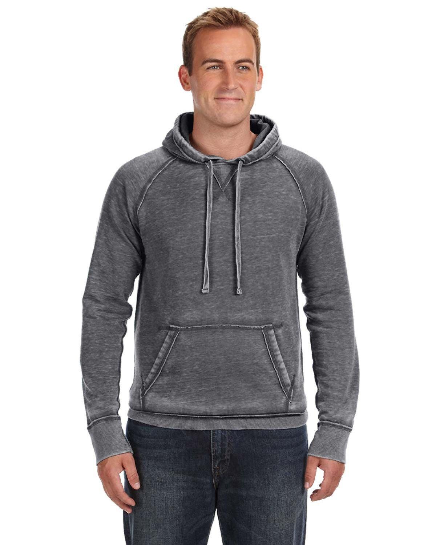 J America Adult Vintage Zen Fleece Pullover Hooded Sweatshirt DARK SMOKE