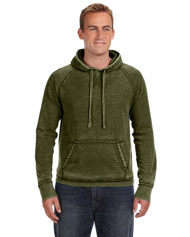 J America Adult Vintage Zen Fleece Pullover Hooded Sweatshirt TWISTED OLIVE