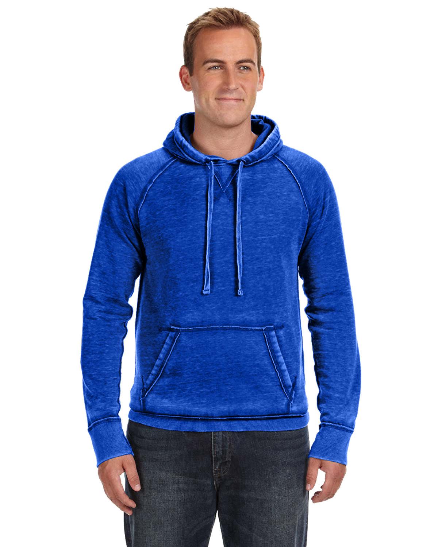 J America Adult Vintage Zen Fleece Pullover Hooded Sweatshirt TWISTED ROYAL