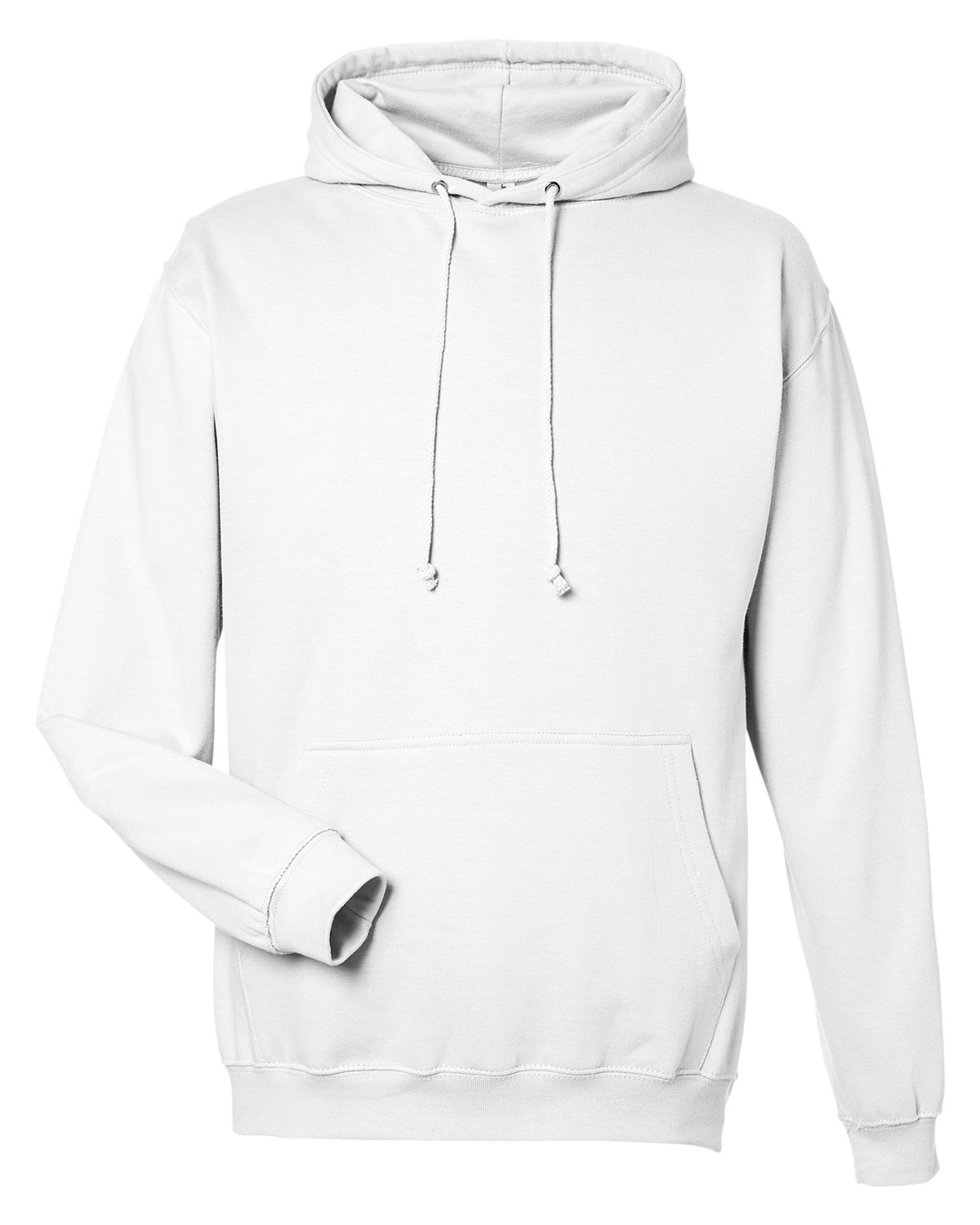 Just Hoods By AWDis Men's 80/20 Midweight College Hooded Sweatshirt ARCTIC WHITE