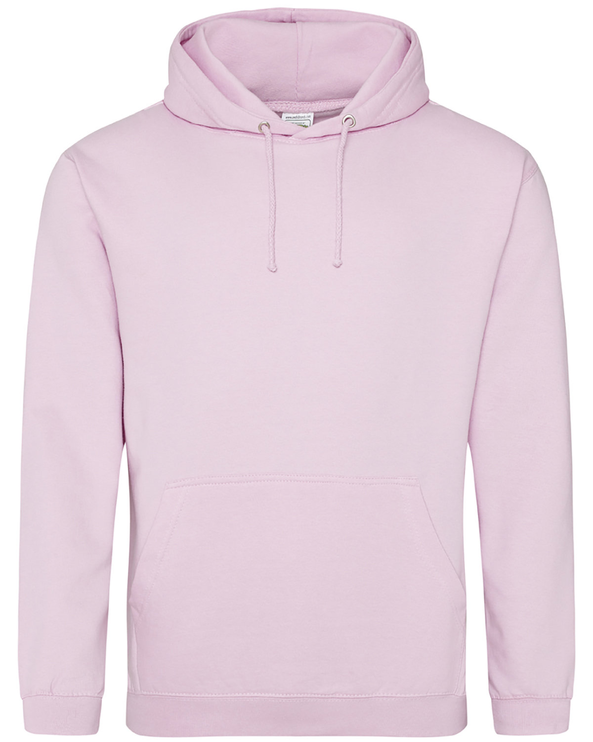 Just Hoods By AWDis Men's 80/20 Midweight College Hooded Sweatshirt BABY PINK