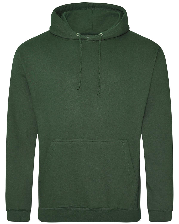Just Hoods By AWDis Men's 80/20 Midweight College Hooded Sweatshirt BOTTLE GREEN