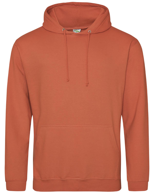 Just Hoods By AWDis Men's 80/20 Midweight College Hooded Sweatshirt BURNT ORANGE