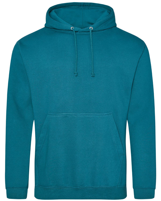 Just Hoods By AWDis Men's 80/20 Midweight College Hooded Sweatshirt JADE