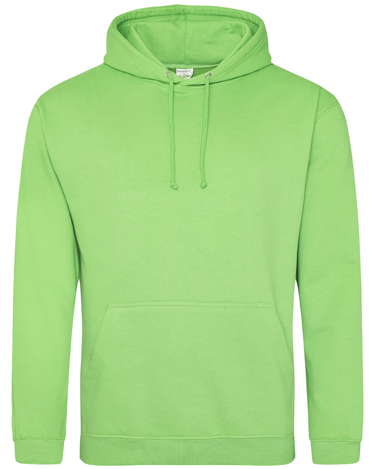 Just Hoods By AWDis Men's 80/20 Midweight College Hooded Sweatshirt LIME GREEN