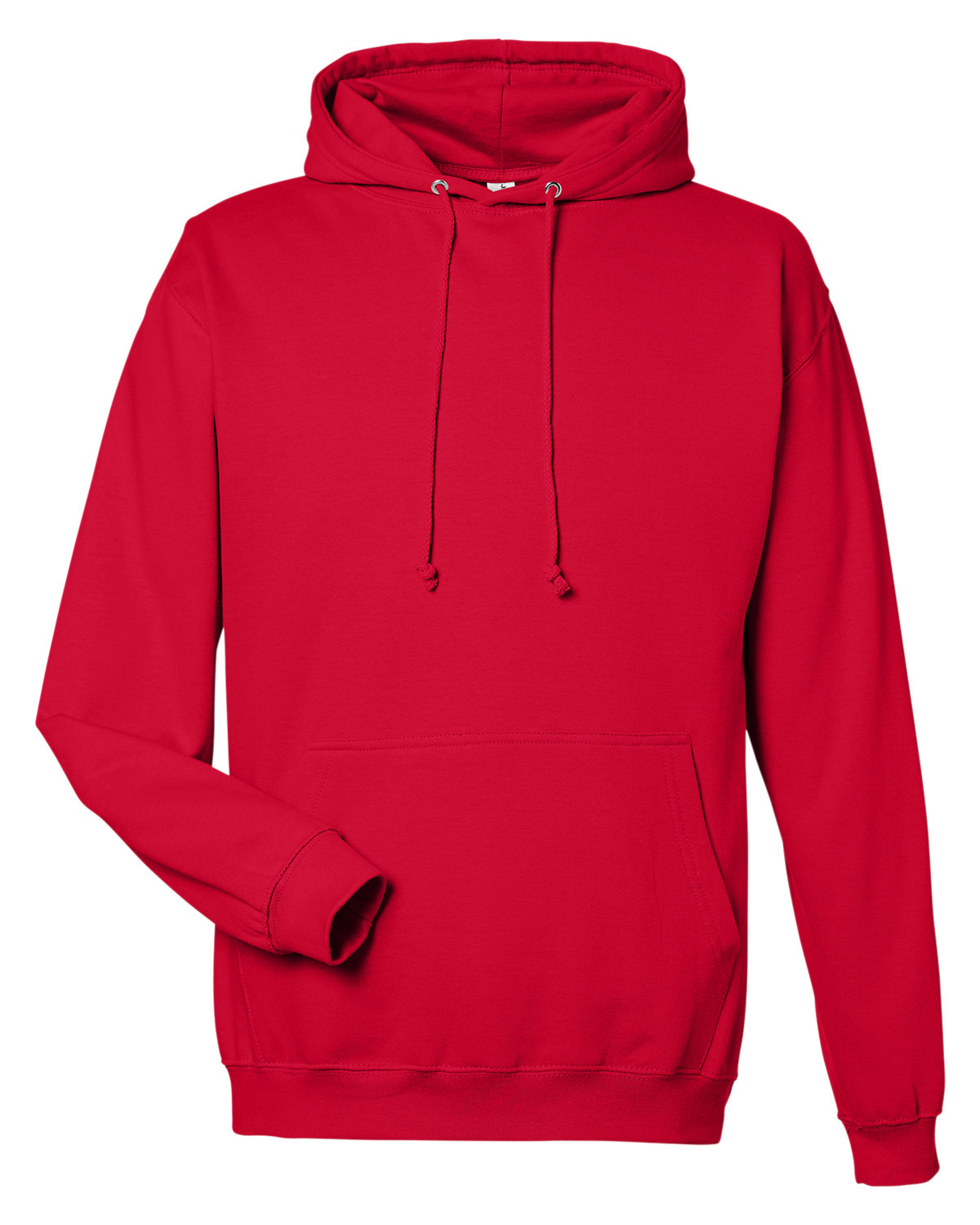 Just Hoods By AWDis Men's 80/20 Midweight College Hooded Sweatshirt FIRE RED