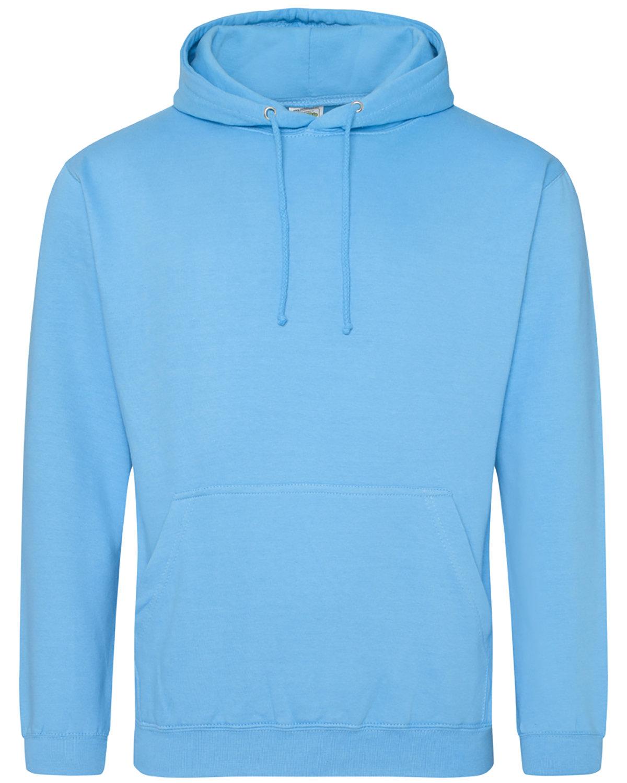 Just Hoods By AWDis Men's 80/20 Midweight College Hooded Sweatshirt HAWAIIAN BLUE