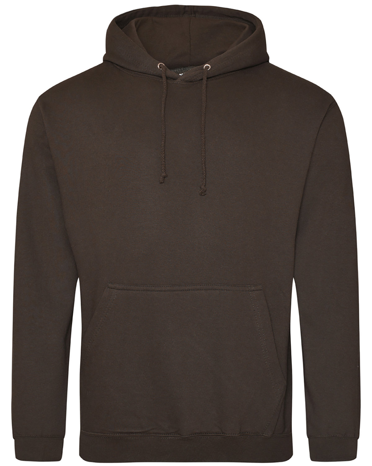Just Hoods By AWDis Men's 80/20 Midweight College Hooded Sweatshirt HOT CHOCOLATE