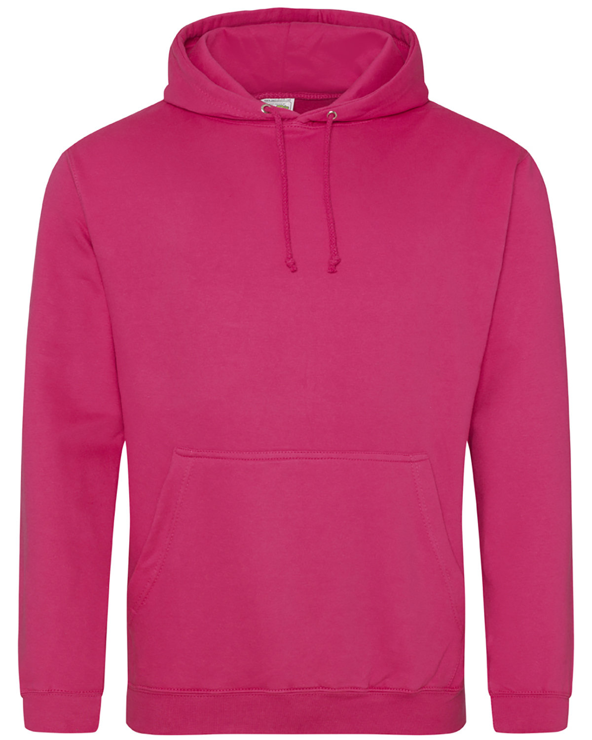 Just Hoods By AWDis Men's 80/20 Midweight College Hooded Sweatshirt HOT PINK