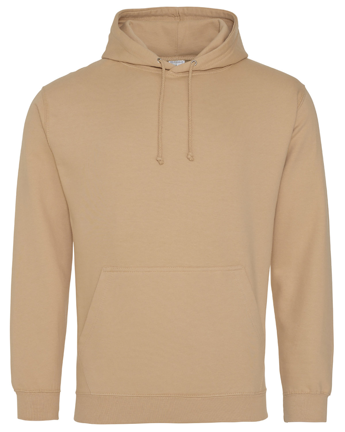 Just Hoods By AWDis Men's 80/20 Midweight College Hooded Sweatshirt NUDE