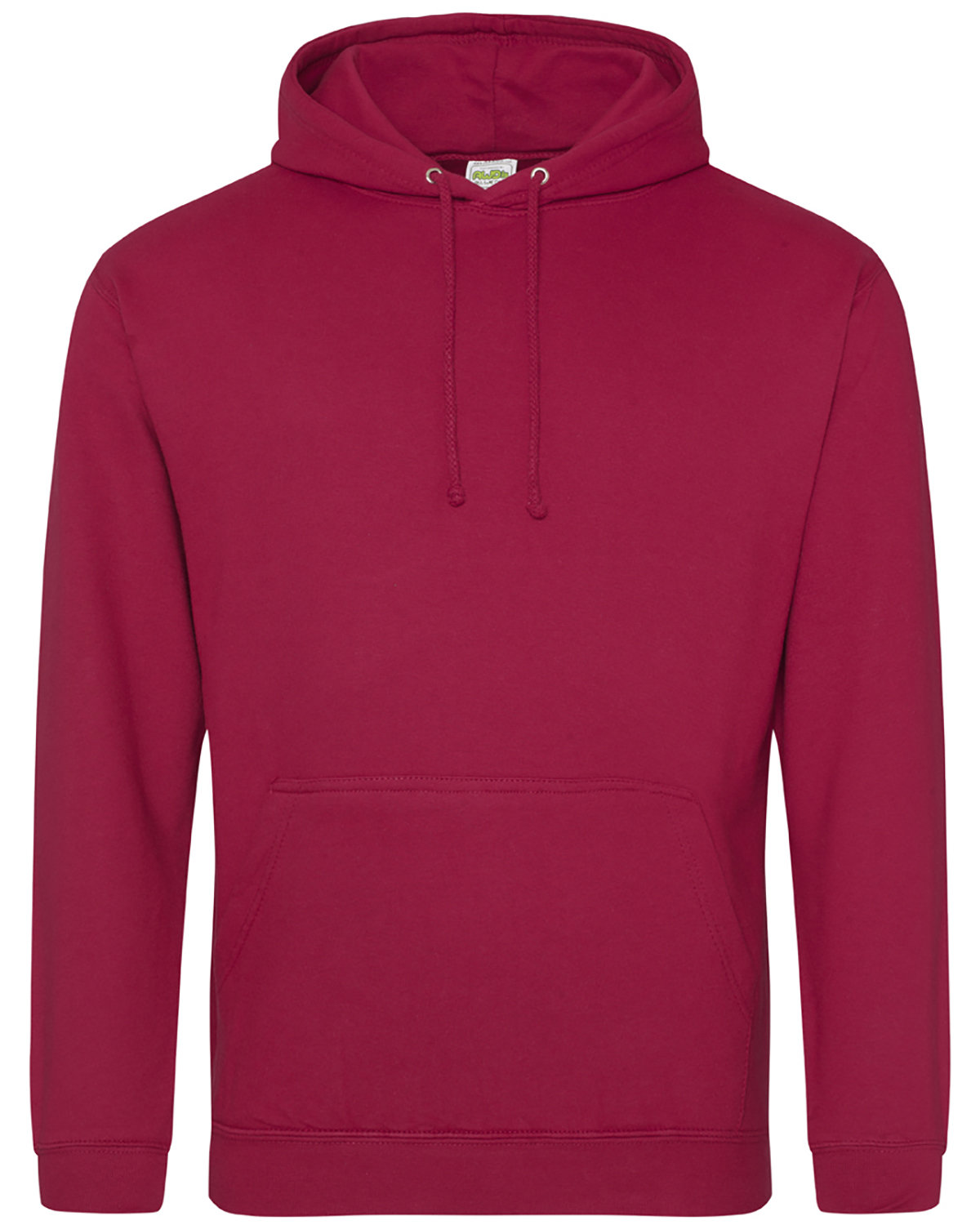 Just Hoods By AWDis Men's 80/20 Midweight College Hooded Sweatshirt RED HOT CHILLI