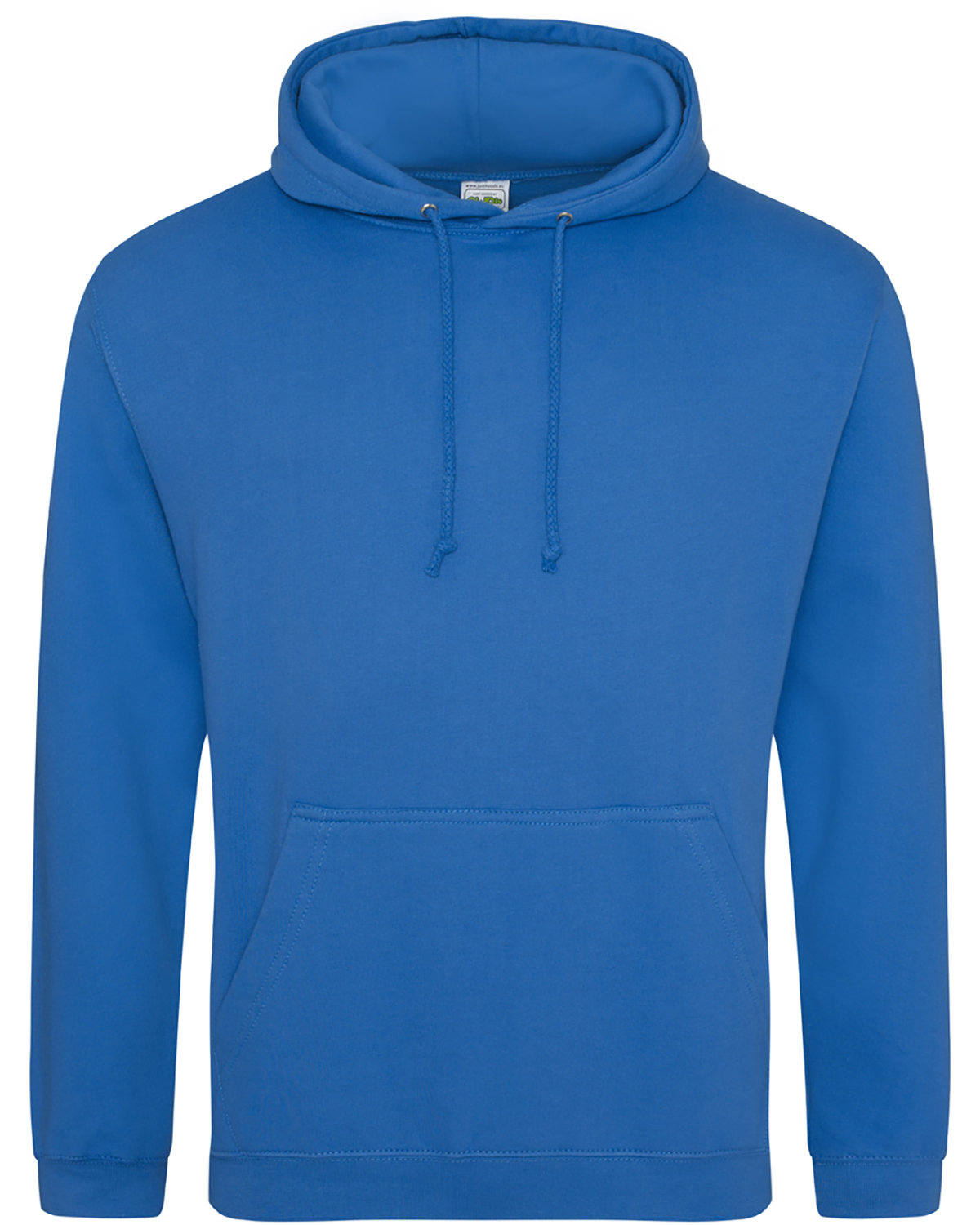 Just Hoods By AWDis Men's 80/20 Midweight College Hooded Sweatshirt SAPPHIRE BLUE