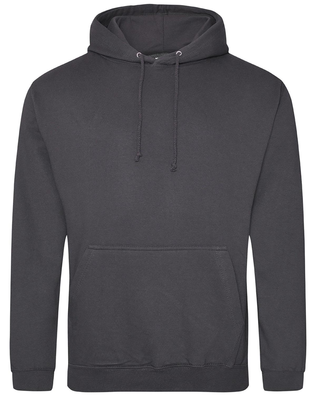 Just Hoods By AWDis Men's 80/20 Midweight College Hooded Sweatshirt STEEL GREY