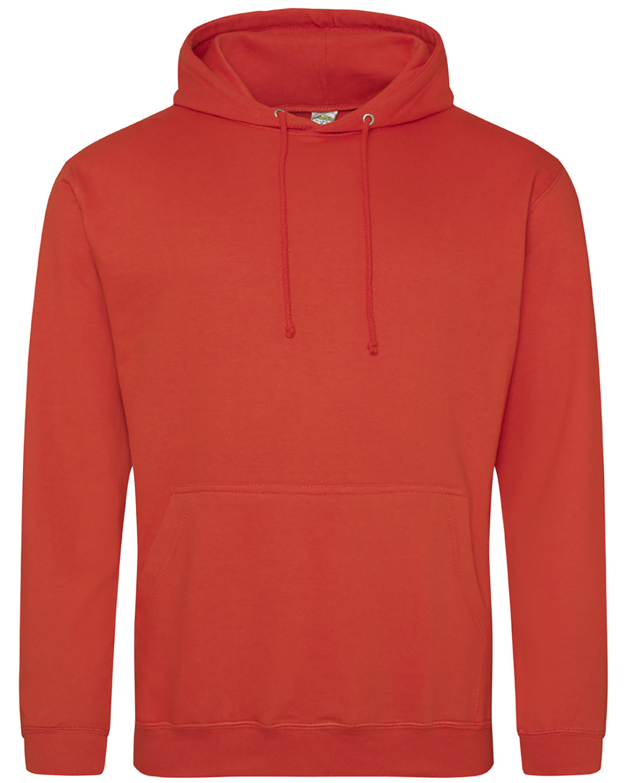 Just Hoods By AWDis Men's 80/20 Midweight College Hooded Sweatshirt SUNSET ORANGE