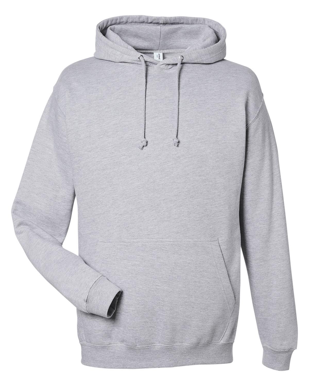 Just Hoods By AWDis Men's 80/20 Midweight College Hooded Sweatshirt HEATHER GREY