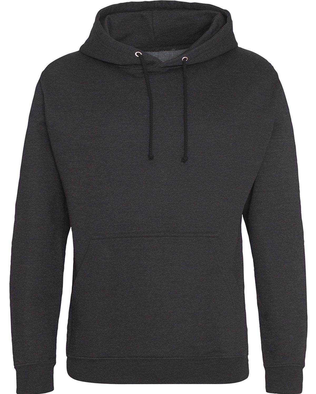 Just Hoods By AWDis Men's 80/20 Midweight College Hooded Sweatshirt BLACK SMOKE